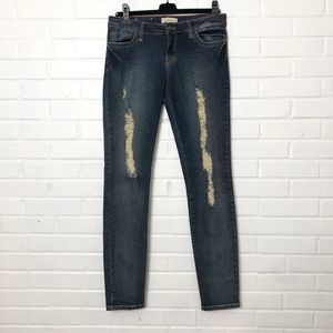 2.1 Denim Faded Distressed Jeans Blue Size 29